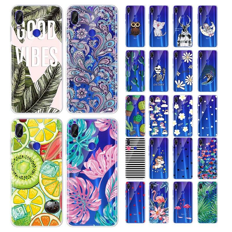 Silicon Pattern Case For Xiaomi Redmi Funda For Xiaomi Redmi Note 7 pro Redmi note 6 pro 6 6A Cases Protective TPU Cover redmi note 7 pro cover