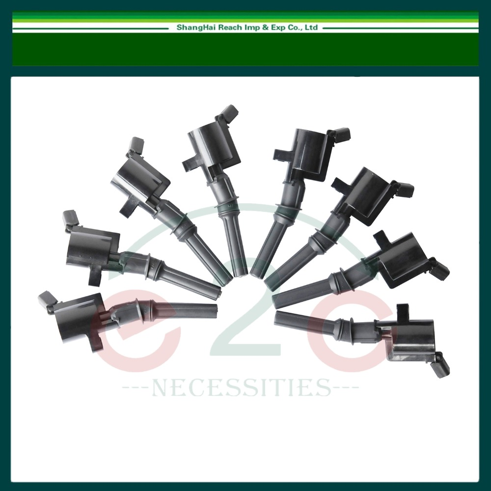 ФОТО Set of 8 Ignition Coil For 1997-2009 Ford Lincoln Mercury OE#:F7TU-12A336-BA DG467