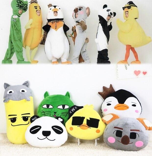 Candice guo plush toy cartoon animal 2pm south korea panda chick cat banana penguin Koala pillow cushion girl birthday gift 1pc