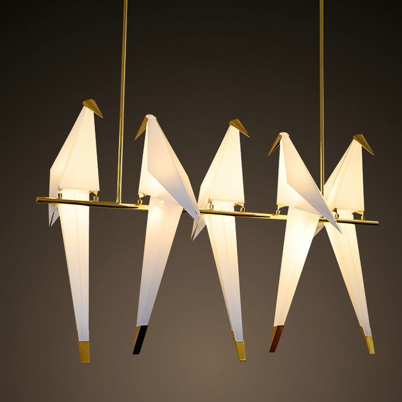 все цены на Bird lamp Nordic Style Creative Design Personality Lamp Modern Origami Crane Bird Wall lamp Perch origami bird shaped floor lam