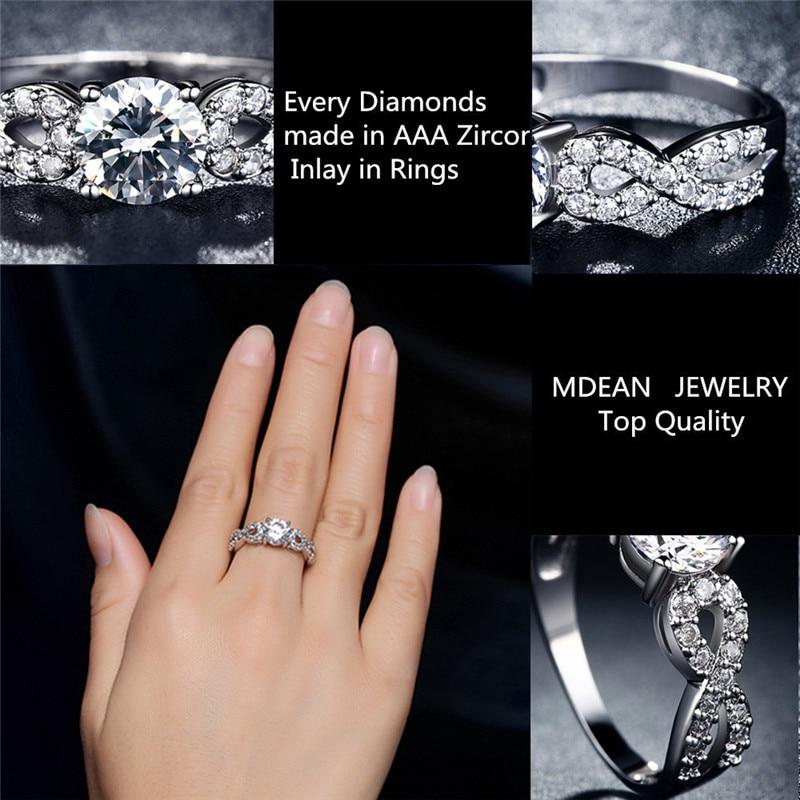 Modni vjenčani prstenovi za žene 585 Bijelo zlato u boji prepleteni - Modni nakit - Foto 6