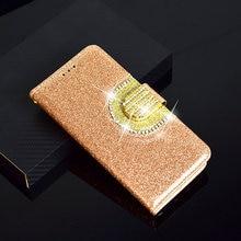 Brokatowe zamykane etui z diamencikami i kieszonkami do Motorola E5 i E5 Plus