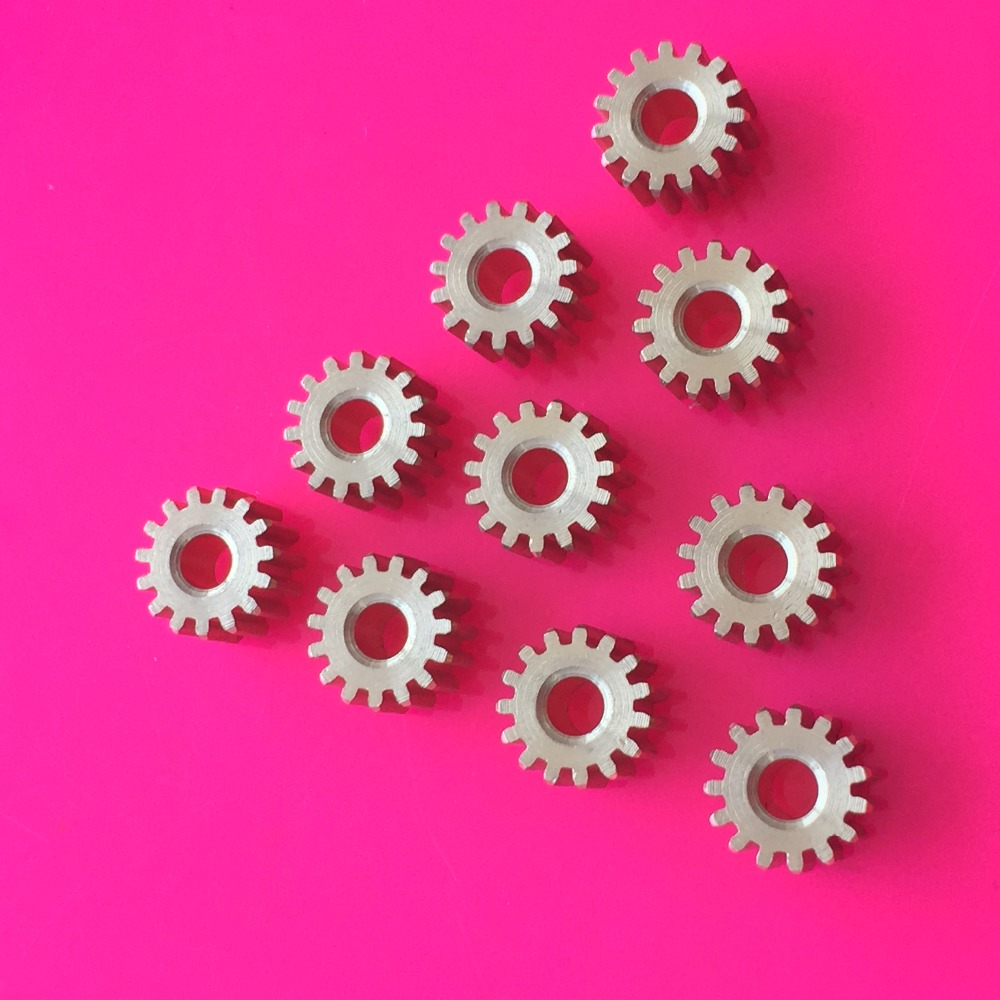 10pcs K874Y Brass 15T Gears 0.5 Module Aperture Diameter 2.97mm Addendum Circle Diameter 8.5mm DIY Model Parts