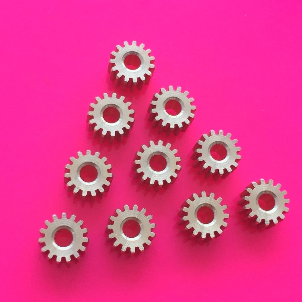 10pcs K874Y Brass 15T Gears 0.5 Module Aperture Diameter 2.97mm Addendum Circle Diameter 8.5mm DIY Model Parts