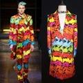 Korea Men Slim Casual Suits Bar 2016 Brand Long Section Skinny Suit Jacket Mens DJ Singer DS Men Nightclub Costumes Dress S-5XL