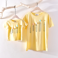 Family Matching Outfits Brand 2018 Family T Shirt Father Mother Daughter Son Cotton T Shirts Summer