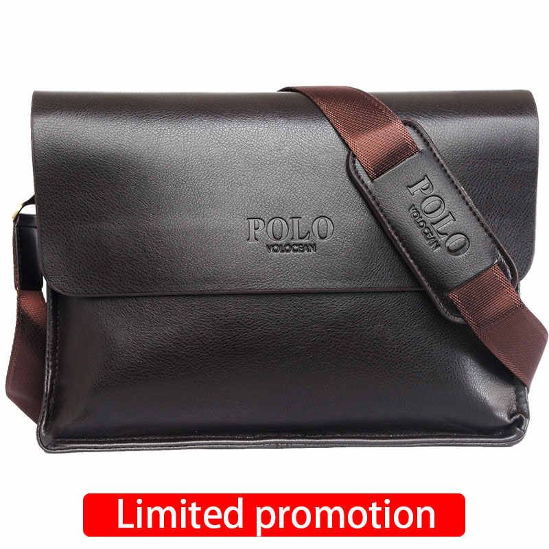 1b40a95b08 ... Casual Business Leather Mens Messenger Bag Hot Sell Famous Brand Design Leather  Men Bag Vintage Fashion ...