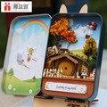 T002 Мечта выезд Утюг коробки DIY миниатюрный кукольный дом Мебели dollhouse Игрушки Миниатюре Мебели На День Рождения Творческие Подарки