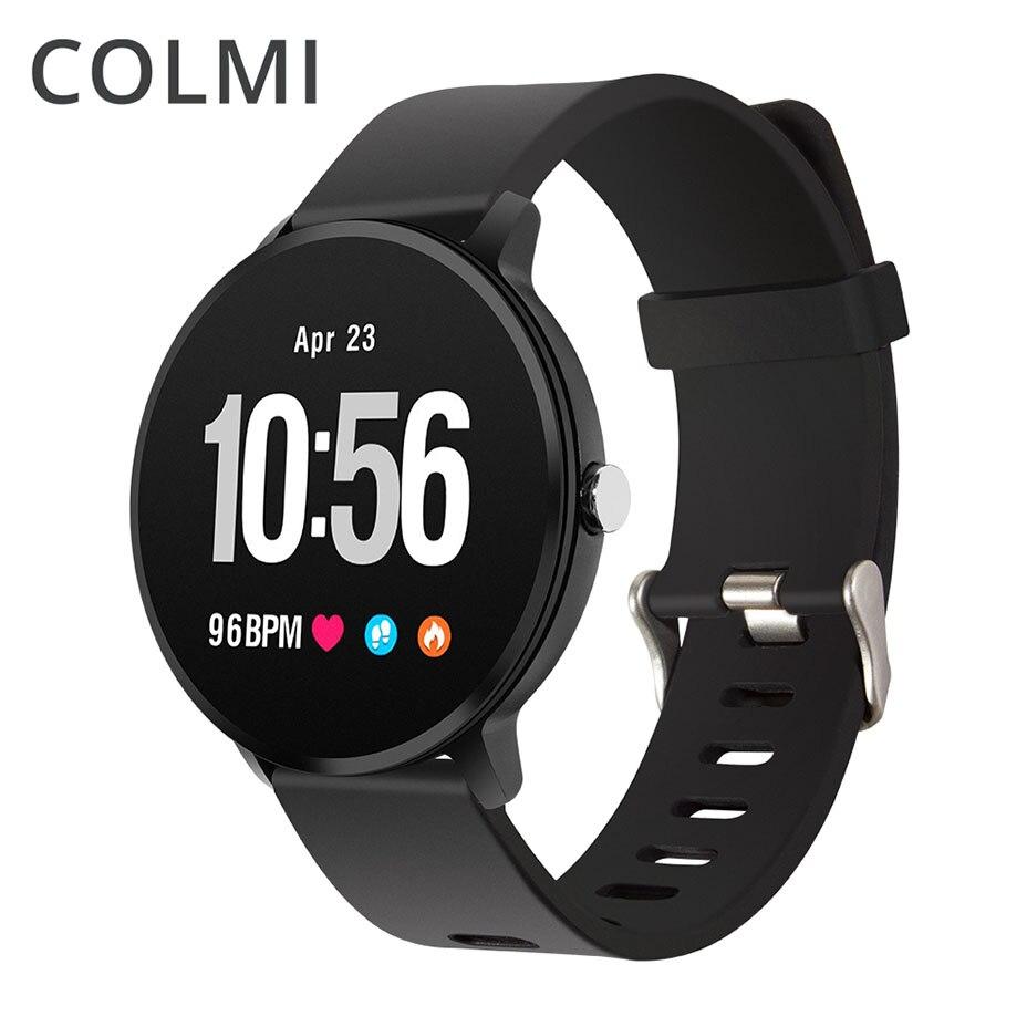 COLMI Fitness Activity tracker IP67 waterproof Smart watch Tempered glass Heart rate monitor Men women Clock
