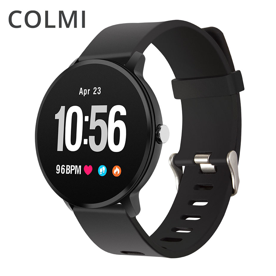 COLMI Fitness tracker Activité IP67 étanche montre Smart watch Trempé verre moniteur de fréquence Cardiaque Hommes femmes Horloge smartwatch