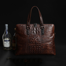 New fashion Genuine Leather male bag Business briefcase handbag men shoulder bags Alligator pattern Laptop bag High capacity
