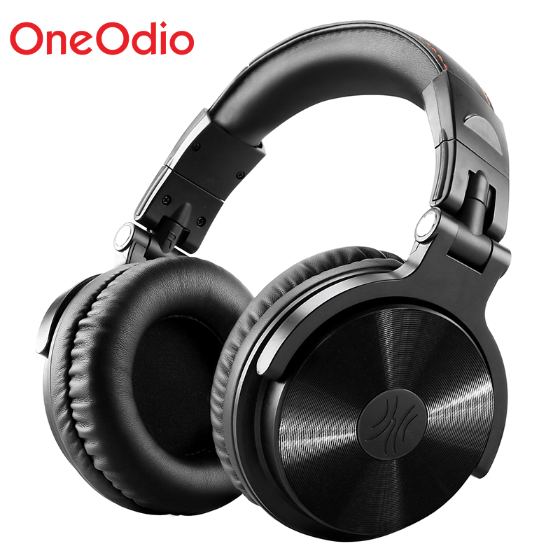 Oneodio Foldable Over Ear Bluetooth Headphones Dual Cable 3.5/6.3mm Stereo Wired Wireless Headset Bluetooth 4.1 With Microphone ditmo dm 4900 foldable wired 3 5mm plug stereo headset headphones w microphone for iphone 5 white