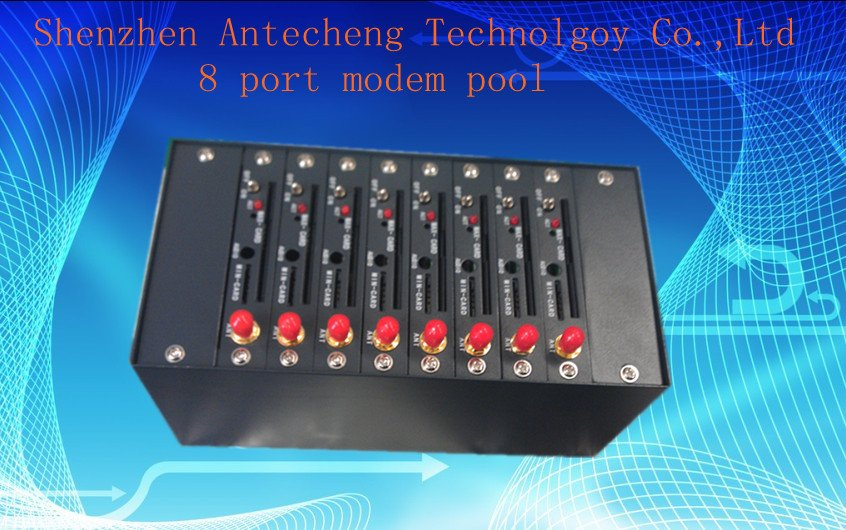 bulk send sms mms 8 port modem pool Q2403 industrial module