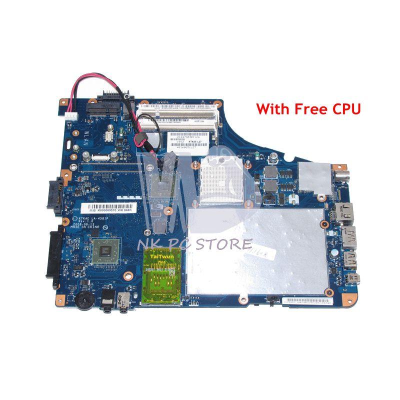 NOKOTION K000069570 LA-4581P Main Board For Toshiba Satellite A350 A355D Laptop Motherboard Socket S1 DDR2 Free CPU laptop motherboard for toshiba satellite a350 a355 k000070900 la 4571p ktkaa l74 46160551l74 tested good
