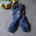 2017 New Children Clothing Denim Trousers Thick Pants Boy Warm Jeans Pants Washed Comfortable Boys Clothes