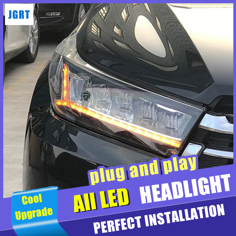 New Car Styling for Toyota Highlander Headlights 2017 2018 Dynamic Turn Signal Full LED Head lamp