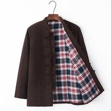Nowe zimowe nowe chińskie tradycyjne męskie ocieplana kurtka z bawełny płaszcz marka projektant Kung Fu watowana kurtka gruba i ciepła