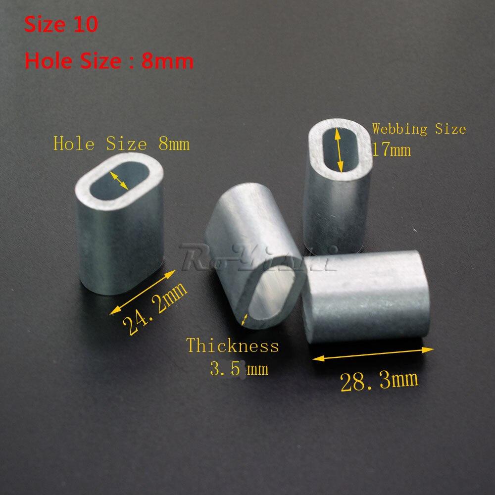 10 шт./упак. Алюминий кабель ОБЖИМНАЯ втулка кабельный наконечник Stop для Малый зажим для соединения стальных канатов обжимки ловушка баррель фитинг
