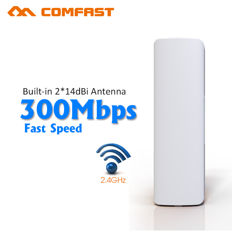 COMFAST CF-E314N 2KM Wireless WIFI Extender 2.4G 300Mbps Outdoor CPE Router ethernet WiFi Bridge Access Point AP Router 1000mw 2 4ghz 300mbps 802 11b g n wlan ap router