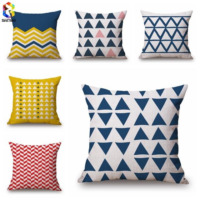 Aliexpress Buy ZeroC Warm Tone Linen Cushion Case Geometric Magnificent Decorative Neck Roll Pillows