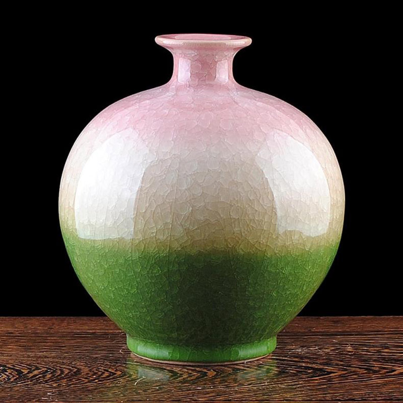 Artistic Porcelain Ceramic Traditional Chinese Elegant Tabletop Vase Collection Ice-Crack Glazed HXG002 vase