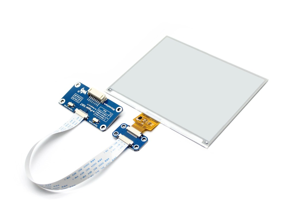 600x448 5 83inch E Ink display HAT for Raspberry Pi SPI interface Display color black white