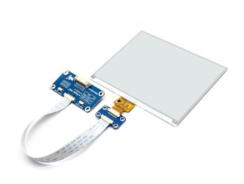 600x448, 5.83inch E-Ink display HAT for Raspberry Pi, SPI interface  Display color: black, white