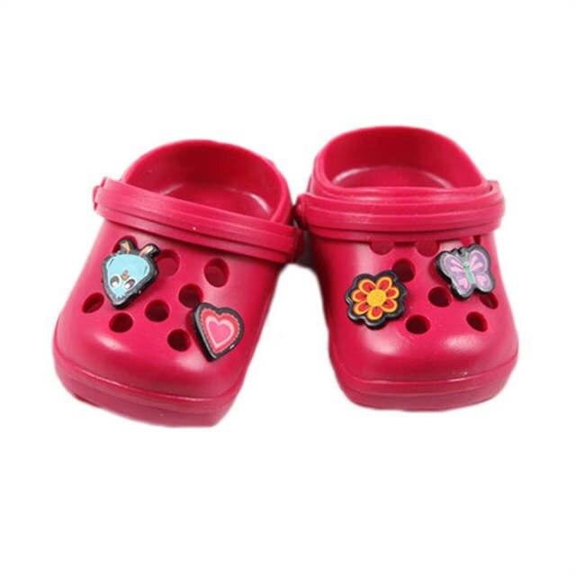 Nowe zdjęcia ponadczasowy design tanie trampki Crocs Doll Shoes Fit 43cm Doll Baby Born Zapf Doll ...