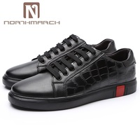 NORTHMARCH New 2018 Men Shoes Brand Flat Shoes Men Fashion Genuine Leather Men Shoes Footwear Comfortable Men Casual Shoes