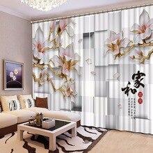 3D занавеска, кровать, гостиная, офис, отель Cortinas, решетки, рельефные цветы, 3D ванная комната, Душ, Затемняющая штора, занавеска