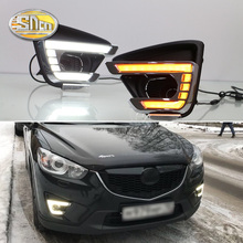 Per Mazda CX-5 CX5 CX 5 2012 2013 2014 2015 2016 di Giorno Corsa e Jogging Luce LED DRL lampada della nebbia di Guida luci giallo Segnale di Girata Della Lampada