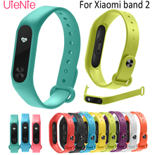 For Xiaomi Mi Band 2 smart watch Strap Round hole silicone Bracelet Wristband Wrist