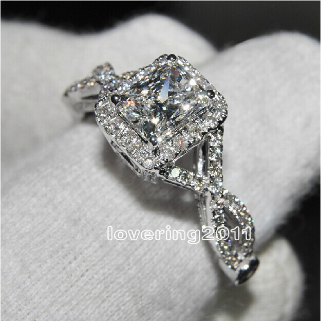 Victoria Wieck Fashion Jewelry AAA Cubic Zirconia Gem 925 Sterling Silver Engagement Wedding Ring Sz 5-11 Free shipping Gift