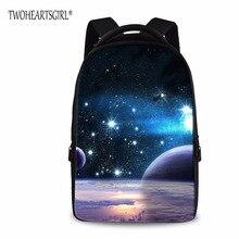 Twoheartsgirl Galaxy Star Дизайнер Рюкзак для детей-подростков студент softback школьный Рюкзаки Дети сумка Mochila Escolar