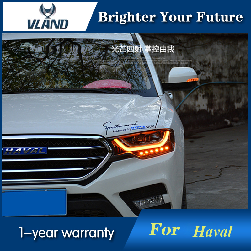 Headlights For Haval H6 Coupe 2015-2016 Head Lamp front Bi-Xenon Lens Double Beam HID hireno headlamp for great wall haval h6 coupe headlight headlight assembly led drl angel lens double beam hid xenon 2pcs