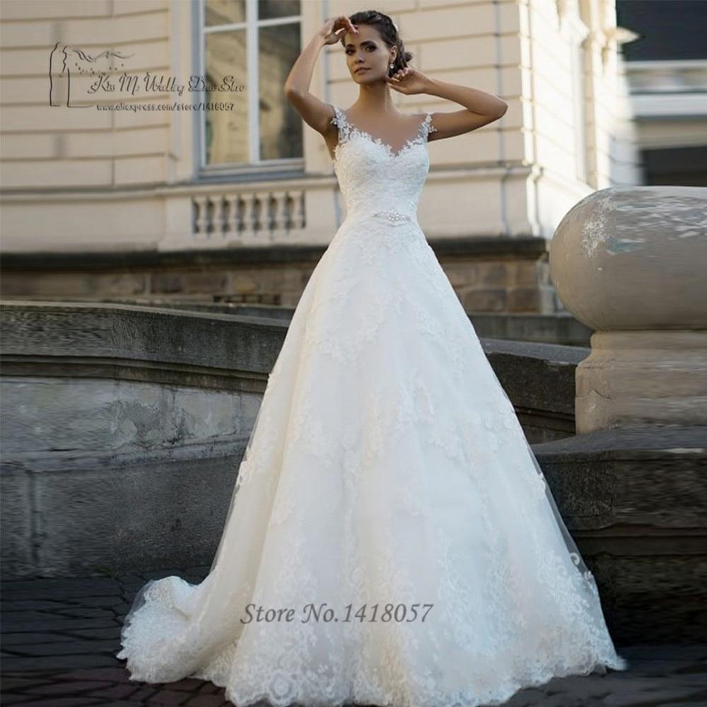 Vestido de Noiva de Renda Elegante Spitze Hochzeitskleid 2017 ...