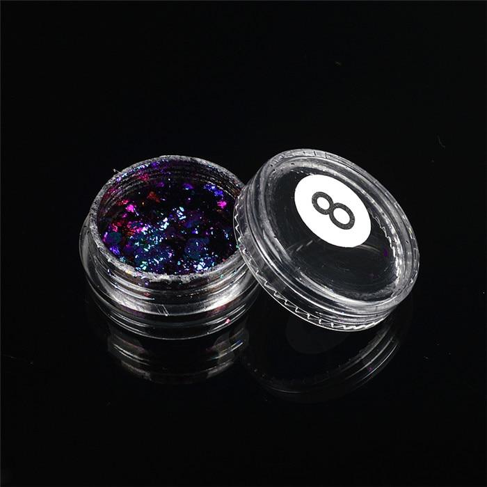 ZKO,, 1 коробка, хамелеон, блестки для ногтей, голографическая пудра, пыль, ослепительные ногти, дизайн ногтей, блестящие украшения - Цвет: 08