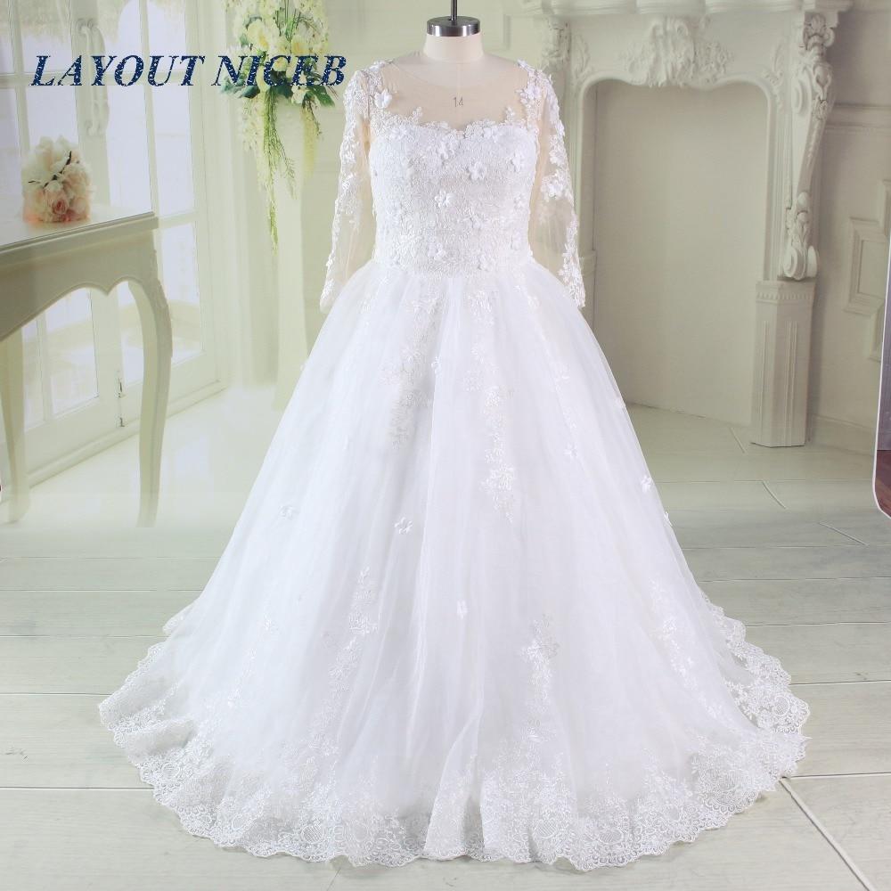 vintage plus size wedding dresses 2017 for russian appliques tulle long sleeve actual image princes lace