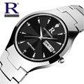 New Original RON Moda Mulheres Relógio Marca de Luxo Homens Relógios de Tungstênio de Aço À Prova D' Água relógios de Pulso de Quartzo relogio feminino 001