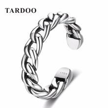 TARDOO Простой Strackable Шпагат Кольца Регулируемые Манжеты Стерлингового Серебра 925 Кольцо для Женщин Fine Jewelry