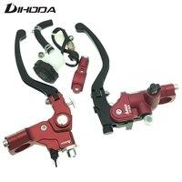 Universal 7/8 22mm Left Cable Clutch + 17.5/19 Rcs Right Hydraulic Master Cylinder For Honda Yamaha Kawasaki Suzuki