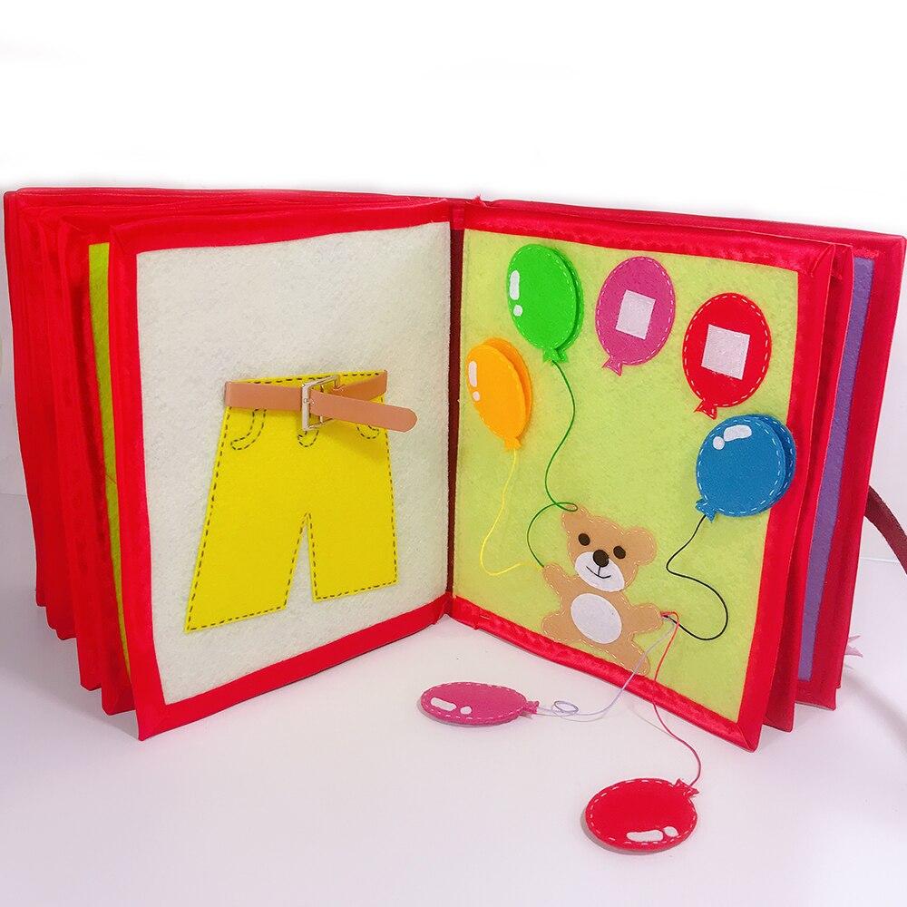 Bebé dibujos animados educación tela libro no tejido hecho a mano pintura Animal libro material de embalaje DIY niño cuento de hadas libro de tela - 4
