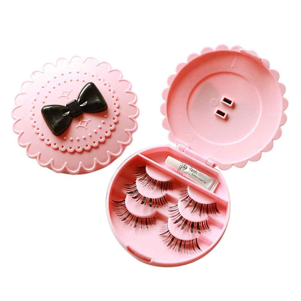 1Pc Plastic Flower Shape False Eyelash Storage Box Makeup Cosmetic Without Mirror Case Organizer Bowknot Fashion Cosmetics Tool