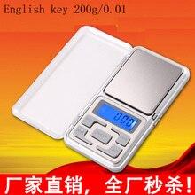 Точность мини-Кухня/весы ювелирные электронные весы 200 г/0.01 г портативный карманный малым весом