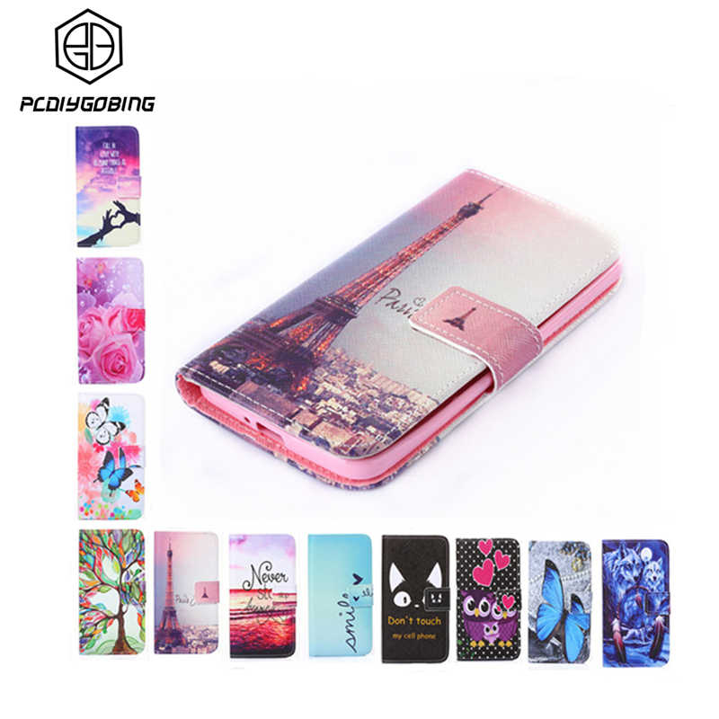 Wallet Style Colour Rose Flower Tower Pattern Cover PU Leather Case For Samsung Galaxy A3 A5 A7 2017 A320 A520 A720 Phone Cover