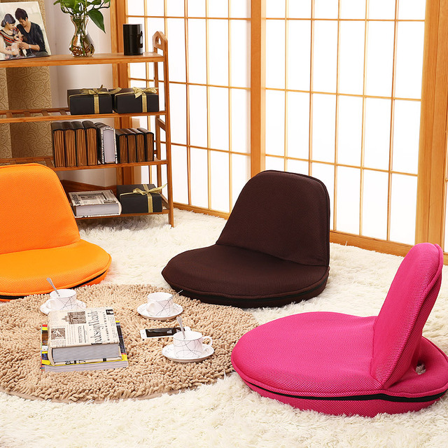 Four - color portable folding bed on the back of a small chair Japanese - style tatami lazy children 's furniture float window