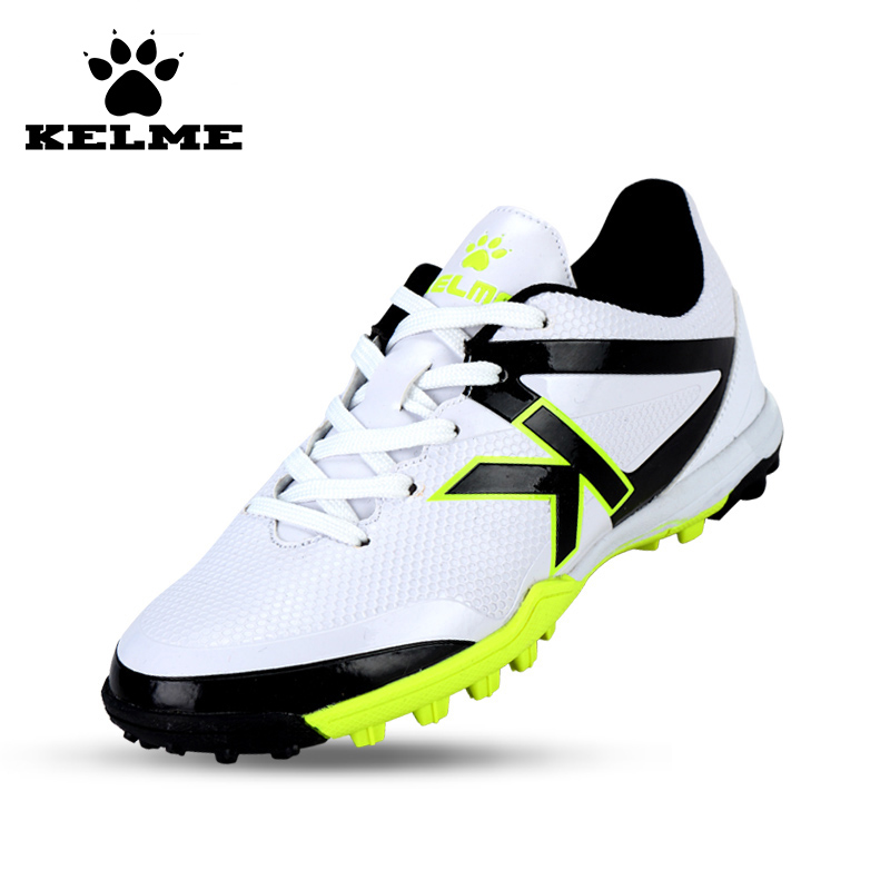 KELME 2016 New Children Sport Running Shoes Football Boots Synthetic Leather Broken Nail Kids Skid Wearable Shoes Breathable 49 health top soccer shoes kids football boots cleats futsal shoes adult child crushed breathable sport football shoes plus 36 45