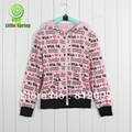 Retail new long-sleeve hoodied sweater letters patterned clothes Fashion girls cotton hoodie LittleSpring GLZ-S0204