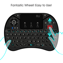Original Rii i8X Backlit Wireless Keyboard 2.4G Air Mouse Keyboards Handheld Touchpad gaming keyboard for phone Tv box android