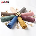 High Quality Ladies Scarves Green Winter Spring Cotton And Linen Summer Scarves Womens Wraps And Shawls Cachecol Marca De Luxo